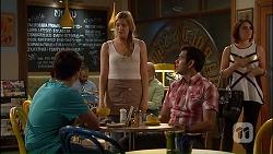 Chris Pappas, Amber Turner, Nate Kinski, Naomi Canning in Neighbours Episode 7040