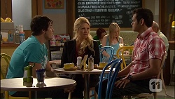 Chris Pappas, Lucy Robinson, Nate Kinski in Neighbours Episode 7040