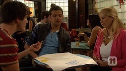 Chris Pappas, Nate Kinski, Lucy Robinson in Neighbours Episode 7043