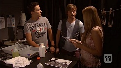 Josh Willis, Daniel Robinson, Amber Turner in Neighbours Episode 7046