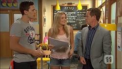 Josh Willis, Amber Turner, Paul Robinson in Neighbours Episode 7046