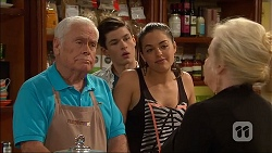 Lou Carpenter, Bailey Turner, Paige Smith, Sheila Canning in Neighbours Episode 7048