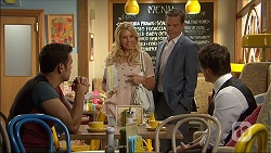 Nate Kinski, Lucy Robinson, Paul Robinson, Chris Pappas in Neighbours Episode 7053