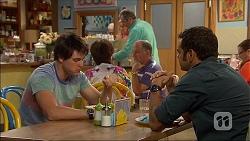 Chris Pappas, Karl Kennedy, Nate Kinski in Neighbours Episode 7054