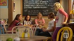 Paige Novak, Imogen Willis, Lauren Turner, Brad Willis, Georgia Brooks in Neighbours Episode 7054