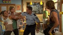 Paige Novak, Daniel Robinson, Const. Ian McKay, Tyler Brennan in Neighbours Episode 7056