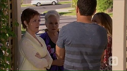 Susan Kennedy, Sheila Canning, Nate Kinski, Sonya Mitchell in Neighbours Episode 7058