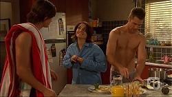 Tyler Brennan, Naomi Canning, Mark Brennan in Neighbours Episode 7062