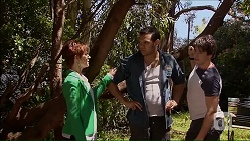Susan Kennedy, Nate Kinski, Chris Pappas in Neighbours Episode 7064