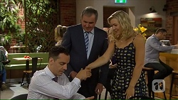 Nick Petrides, Karl Kennedy, Georgia Brooks in Neighbours Episode 7064
