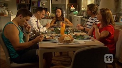 Josh Willis, Nick Petrides, Imogen Willis, Brad Willis, Terese Willis in Neighbours Episode 7065