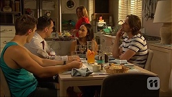 Josh Willis, Nick Petrides, Terese Willis, Imogen Willis, Brad Willis in Neighbours Episode 7065