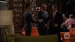 Nick Petrides, Karl Kennedy, Paul Robinson in Neighbours Episode 7065
