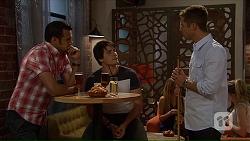 Nate Kinski, Chris Pappas, Mark Brennan in Neighbours Episode 7066