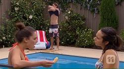 Paige Novak, Tyler Brennan, Imogen Willis in Neighbours Episode 7066