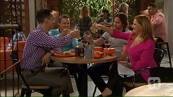 Nick Petrides, Paul Robinson, Brad Willis, Terese Willis in Neighbours Episode 7067