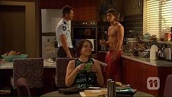 Mark Brennan, Tyler Brennan, Naomi Canning in Neighbours Episode 7068
