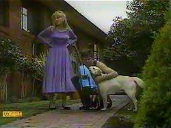 Jane Harris, Joe Mangel, Bouncer in Neighbours Episode 0868
