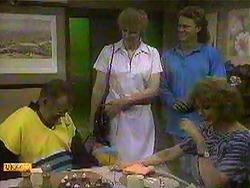 Harold Bishop, Eva Lindström, Henry Ramsay, Madge Bishop in Neighbours Episode 0868
