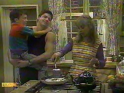 Toby Mangel, Joe Mangel, Jane Harris in Neighbours Episode 0868