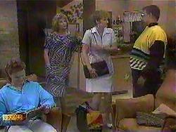 Henry Ramsay, Madge Bishop, Eva Lindström, Harold Bishop in Neighbours Episode 0868