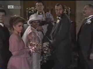 Paul Robinson, Lucy Robinson, Helen Daniels, Reverend, Michael Daniels, Charles Milner in Neighbours Episode 1488