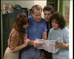 Bunny Lawson, Doug Willis, Mark Gottlieb, Pam Willis in Neighbours Episode 2068
