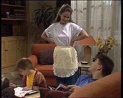 Hannah Martin, Julie Robinson, Michael Martin in Neighbours Episode 2068