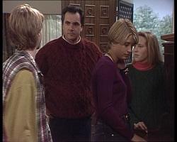 Brett Stark, Karl Kennedy, Danni Stark, Libby Kennedy in Neighbours Episode 2251