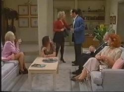 Annalise Hartman, Cody Willis, Jen Handley, Philip Martin, Lou Carpenter, Cheryl Stark in Neighbours Episode 2388