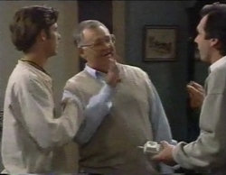 Malcolm Kennedy, Harold Bishop, Karl Kennedy in Neighbours Episode 2769