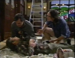 Karl Kennedy, Malcolm Kennedy, Darren Stark in Neighbours Episode 2771
