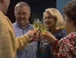 Harold Bishop, Madge Bishop, Marlene Kratz in Neighbours Episode 2795