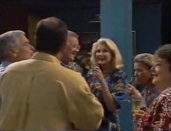 Lou Carpenter, Philip Martin, Harold Bishop, Madge Bishop, Helen Daniels, Marlene Kratz in Neighbours Episode 2795