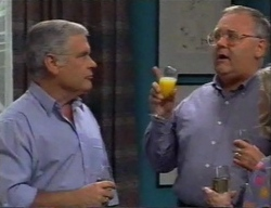 Lou Carpenter, Harold Bishop in Neighbours Episode 2795