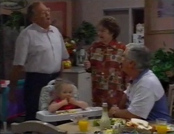 Harold Bishop, Marlene Kratz, Louise Carpenter (Lolly), Lou Carpenter in Neighbours Episode 2796