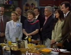 Philip Martin, Helen Daniels, Marlene Kratz, Lou Carpenter, Susan Kennedy, Karl Kennedy in Neighbours Episode 2798