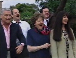 Lou Carpenter, Philip Martin, Marlene Kratz, Karl Kennedy, Susan Kennedy in Neighbours Episode 2798