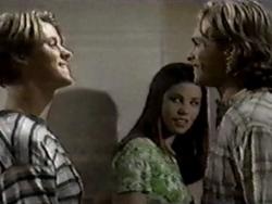 Billy Kennedy, Anne Wilkinson, Justin Black in Neighbours Episode 2800