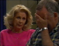 Madge Bishop, Harold Bishop in Neighbours Episode 2968