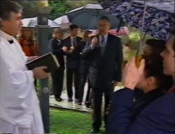 Reverend Neyland, Madge Bishop, Rosemary Daniels, Harold Bishop, Libby Kennedy, Susan Kennedy, Karl Kennedy in Neighbours Episode 2968