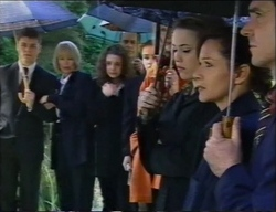 Michael Martin, Rosemary Daniels, Hannah Martin, Philip Martin, Debbie Martin, Libby Kennedy, Susan Kennedy, Karl Kennedy in Neighbours Episode 2968