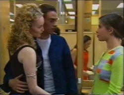 Tiffany Price, James Bowen, Anne Wilkinson in Neighbours Episode 2970