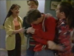 Susan Kennedy, Lance Wilkinson, Billy Kennedy, Toadie Rebecchi in Neighbours Episode 2971