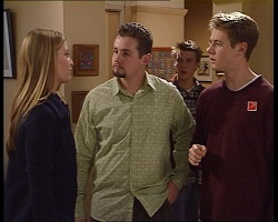 Felicity Scully, Toadie Rebecchi, Billy Kennedy, Lance Wilkinson in Neighbours Episode 3419