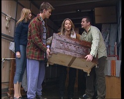 Felicity Scully, Billy Kennedy, Steph Scully, Toadie Rebecchi in Neighbours Episode 3419