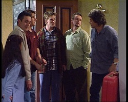 Susan Kennedy, Karl Kennedy, Lance Wilkinson, Billy Kennedy, Toadie Rebecchi, Joe Scully in Neighbours Episode 3419