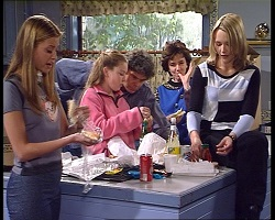 Felicity Scully, Michelle Scully, Joe Scully, Lyn Scully, Steph Scully in Neighbours Episode 3419