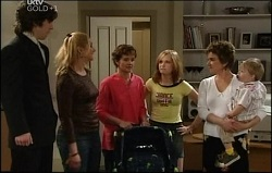 Dylan Timmins, Janelle Timmins, Susan Kennedy, Janae Timmins, Lyn Scully, Oscar Scully in Neighbours Episode 4691