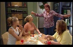 Janae Timmins, Janelle Timmins, Angie Rebecchi, Bree Timmins in Neighbours Episode 4978